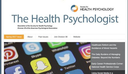 Catch up on the Spring 2017 Newsletter: The Health Psychologist