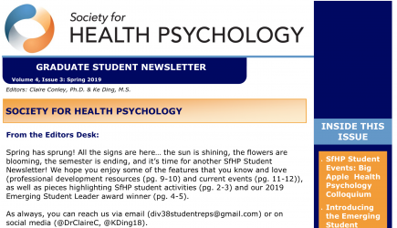 Graduate Student Newsletter
