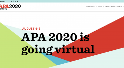 APA 2020 is Going Virtual