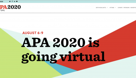 APA 2020 is Going Virtual