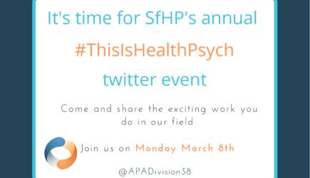 #ThisisHealthPsych Event