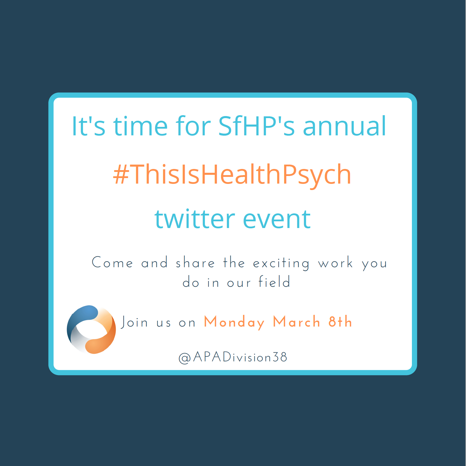 """Featured image for """"#ThisisHealthPsych Event"""""""